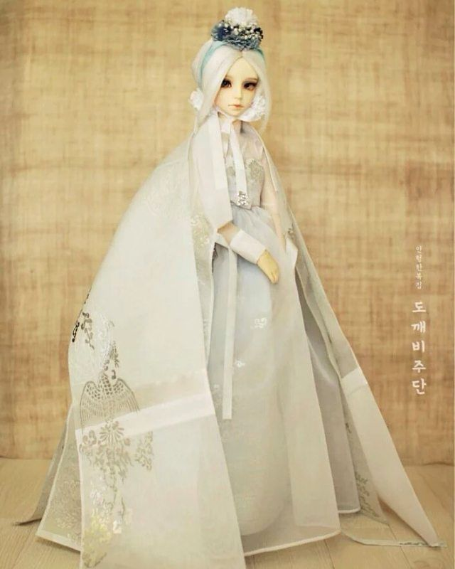 OOAK One-off Dress Model  #르끌레어 #도깨비주단 #ooakdoll #인형한복 #인형놀이 #dollstagram #dollfashion