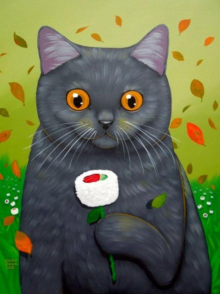 Чудесные коты Кэри Чун Ли