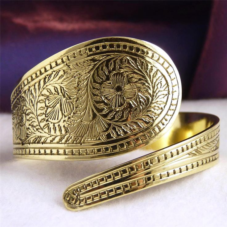 BRASS Cuff SilverSari Carved Bangle * Hand-crafted by Silversmiths * Adjustable