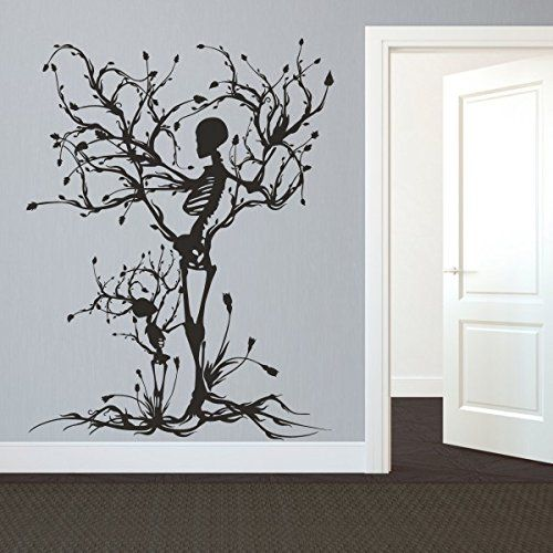 GECKOO Gothic Wall Decal Halloween Decor Skeleton Art Sticker Tree Wall Art For Living Room (Large,Black) GECKOO http://www.amazon.com/dp/B016LSNPNI/ref=cm_sw_r_pi_dp_Fx9Ywb00Q3YSS