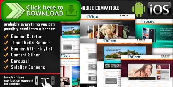 [ThemeForest]Free nulled download All In One Slider Responsive Jquery Slider Plugin from http://zippyfile.download/f.php?id=38046 Tags: ecommerce, banner rotator, caption, carousel, gallery, image, ios, jquery, mobile, plugin, resizable, responsive, sidebar, slider, slideshow, touch