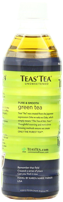 Teas' Tea Unsweetened Pure Green Tea, 16.9 Ounce (Pack of 12)