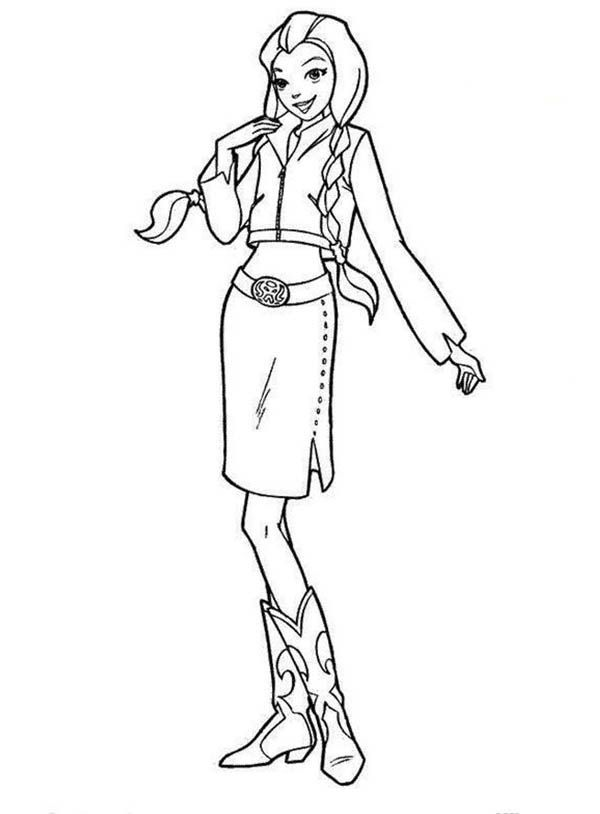 Cowgirl Country Cowgirl Coloring Page