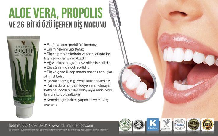 ALOE VERA, PROPOLIS Ve 26  BİTKİ ÖZÜ İÇEREN DİŞ MACUNU  Komple ağız bakımı yapan ilk ve tek diş macunu