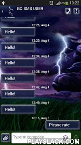 GO SMS Storm  Android App - playslack.com ,  Some people love the sun and would do anything for even a single day spent outside, preferably at the beach, sunbathing and playing in the water. Other people, like yourself like it when it rains and adores whenever there's a storm, even though it's a little scary at times. Storms are amazing natural phenomena and the sounds of a storm are always fascinating. Customize the appearance of your smartphone or tablet with the new GO SMS Pro Storm…