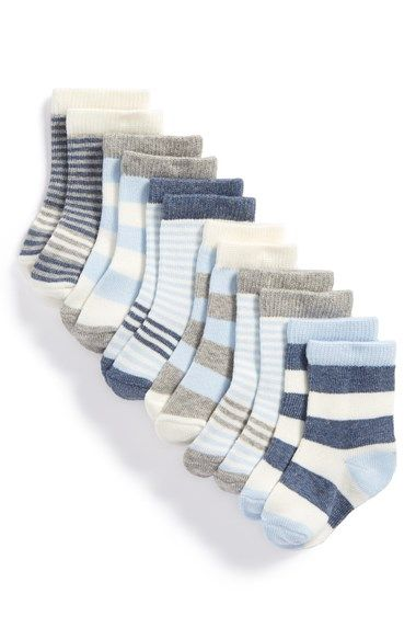 Free shipping and returns on Nordstrom Baby Crew Socks (Baby Boys) (6-Pack) at Nordstrom.com. Chase the chill from your little one's feet with stylish socks crafted from an ultrasoft blend.