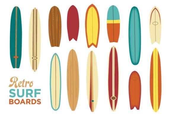 Retro Surfboards by Marie Ockleford on @creativemarket