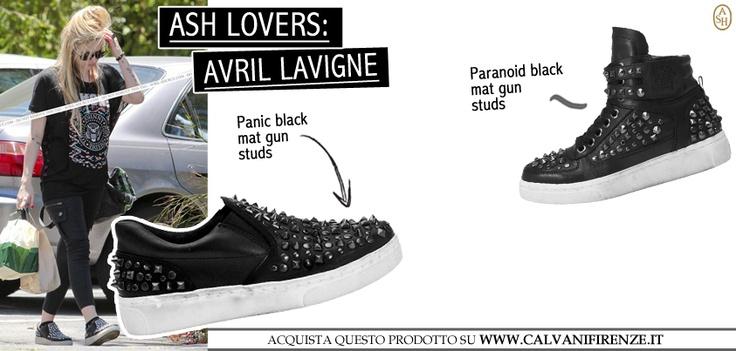 Avril Lavigne è una vera Ash Lover! Dimostra la sua grande passione e il suo stile rock tutte le volte che può! Questa volta indossa il modello Panic! Acquistalo anche tu su calvanifirenze.it #ashitalia
