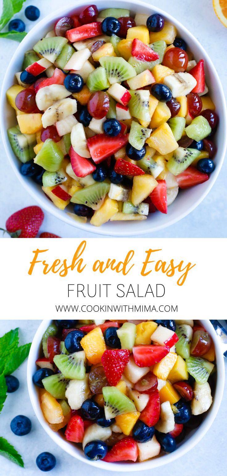 Easy Fruit Salad Recipe Fruit Salad Easy Banana Fruit Salad Fresh Fruit Salad
