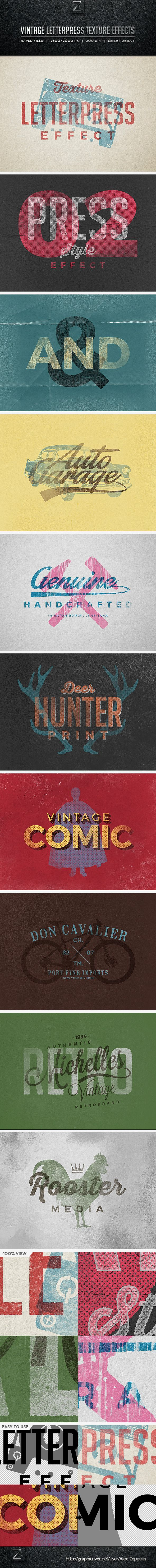 Vintage Letterpress Texture Effects #photoshop Download here: http://graphicriver.net/item/vintage-letterpress-texture-effects/10340387?ref=ksioks
