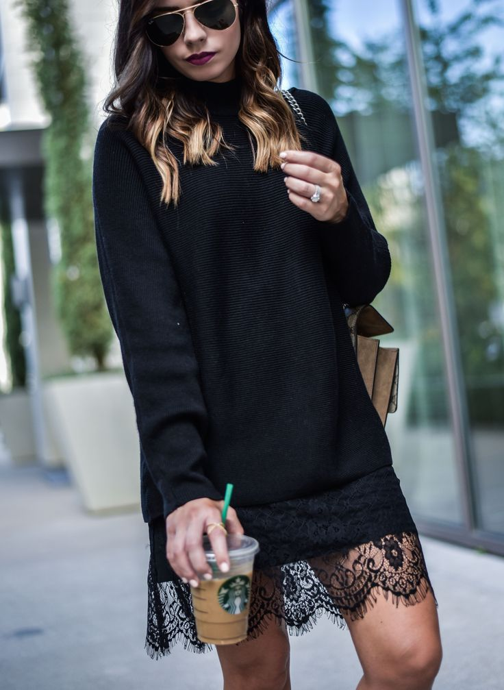 all black outfit,lace hem skirt, adidas sneakers women, women fashion, style, fashion blog, blogger, gucci dionysus bag, casual fashion, http://www.flauntandcenter.com , dresses, shoes, sweater.
