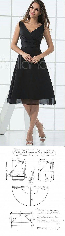 Elegante vestido negro