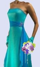 turquoise bridesmaids dresses with straps - gorgeous