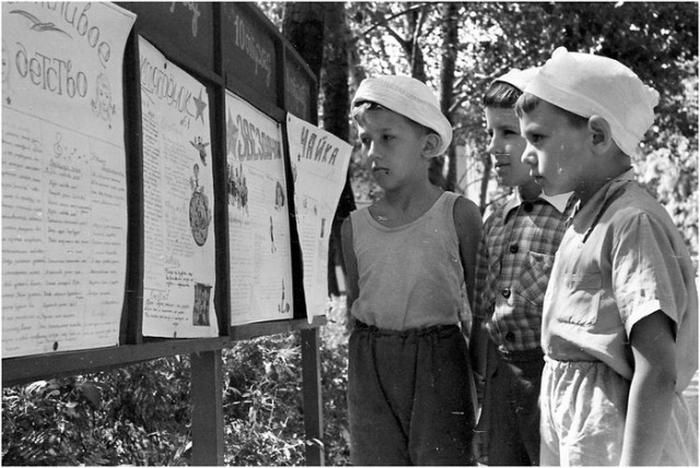 Kid from Soviet Union black and white photo