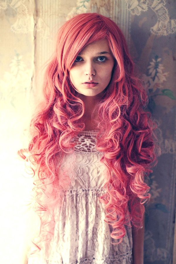 so many lengths: Hair Colors, Hairstyles, Hair Styles, Colorful Hair, Pink Hair, Haircolor, Pinkhair, Beauty, Pink Curls