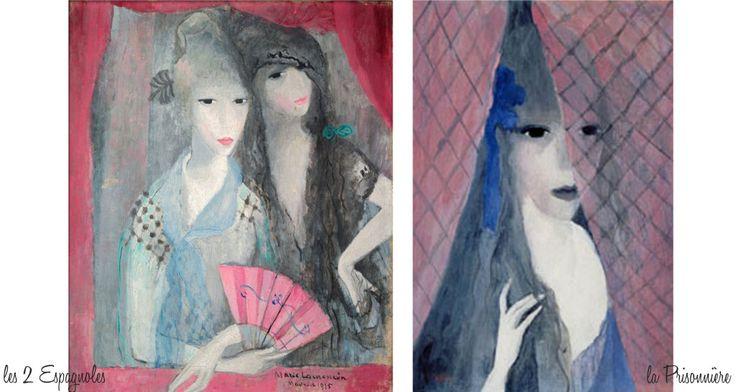 les deux espagnoles, la prisonnière, marie laurencin exposition musée marmottan monet paris, art déco