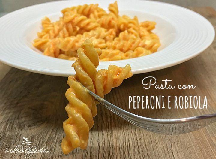 pasta con peperoni e robiola