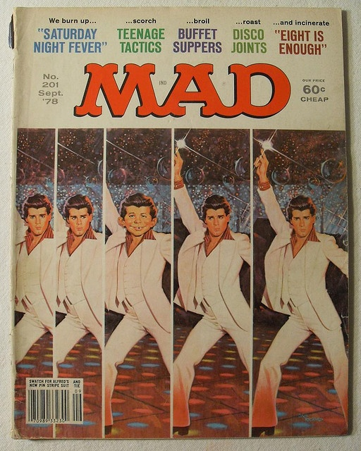 MAD MAGAZINE 1978 Vintage Illustration BY JACK RICKARD Alfred E. Newman JOHN TRAVOLTA Saturday Night Fever by Christian Montone, via Flickr