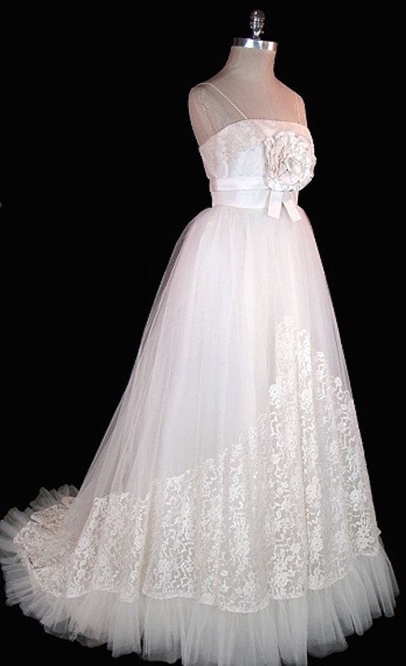Vintage Christian Dior Wedding Gown Dress 1955 by ...