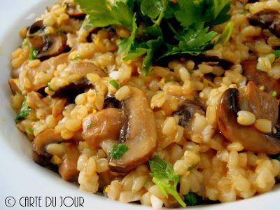 Carte du jour: Barley Risotto with Mushrooms & Gremolata