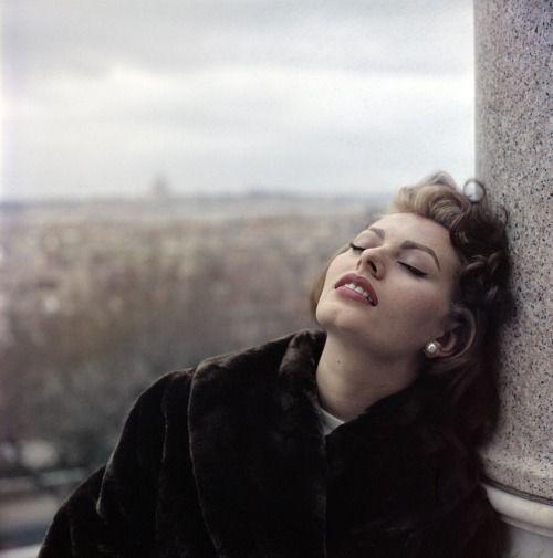 billowy:  Sophia Loren, 1950s