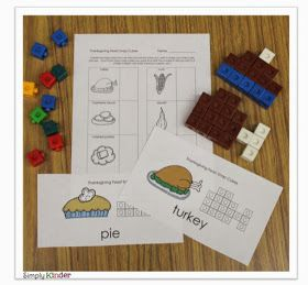 Simply Kinder: Thanksgiving Snap Cube Freebie