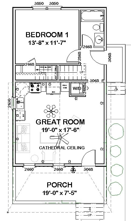 14 best 20 x 40 plans images on pinterest tiny house for Shotgun floor plans
