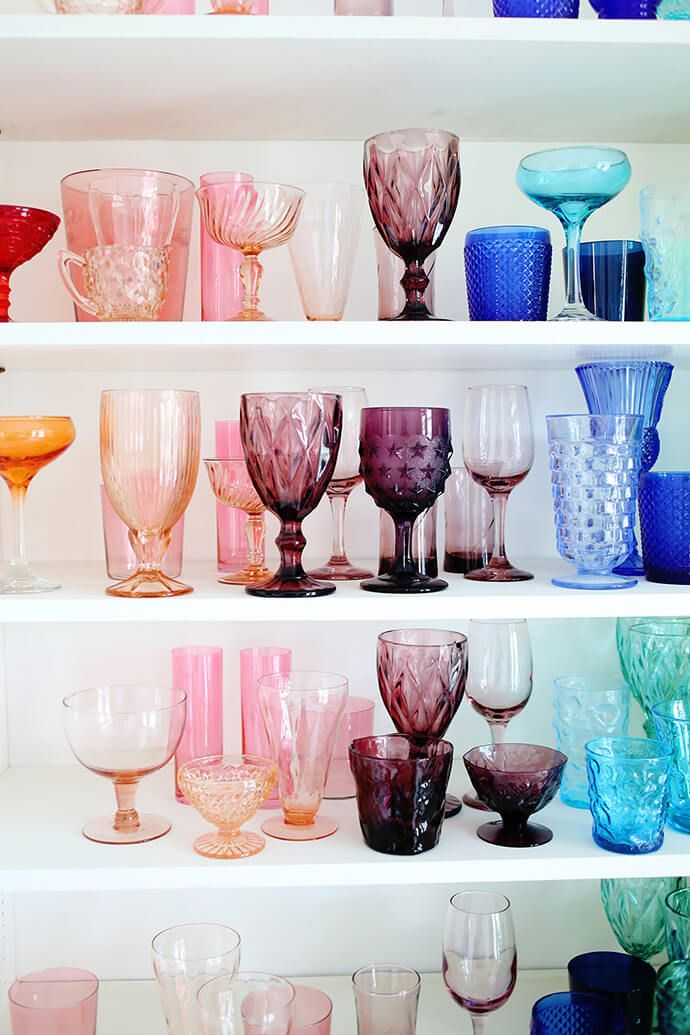 Vintage glass collection
