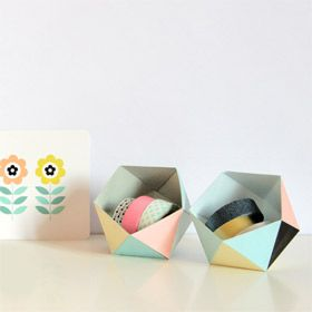 DIY-papercraftLittle Boxes, Cardboard Boxes, Printables Templates, Diy Geoball, Paper Boxes, Polygon Geobox, Geometric, Paper Crafts, Free Printables
