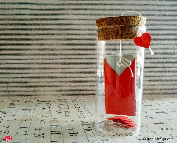 Tutorial di San Valentino: bottiglia con messaggio d'amore  - Indole Design