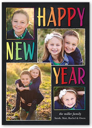 129 best new years cards and more images on pinterest new years brilliant bliss 5x7 stationery card by yours truly shutterfly m4hsunfo
