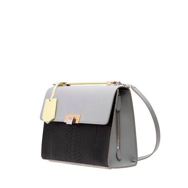 Balenciaga Le Dix New Cartable S Python (6.690 BRL) ❤ liked on Polyvore featuring bags, handbags, python print handbag, python bag, balenciaga handbags, white bag and man bag