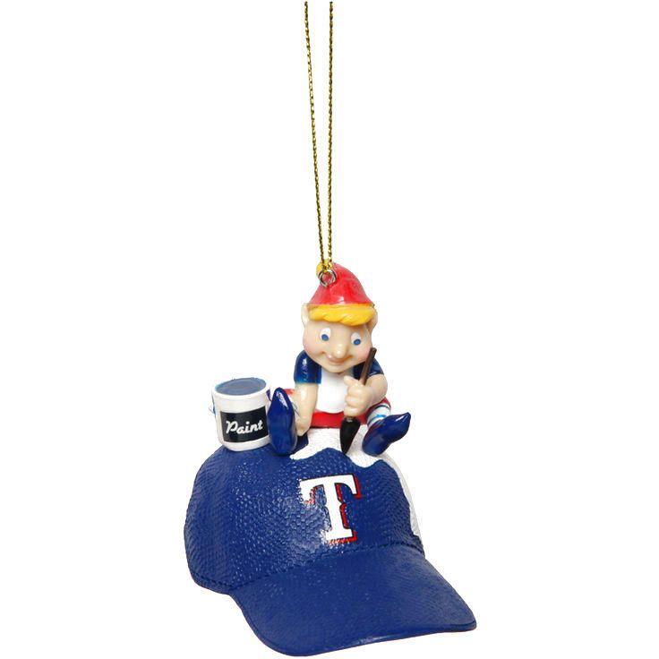 Texas Rangers Team Painting Elf Ornament - $9.59