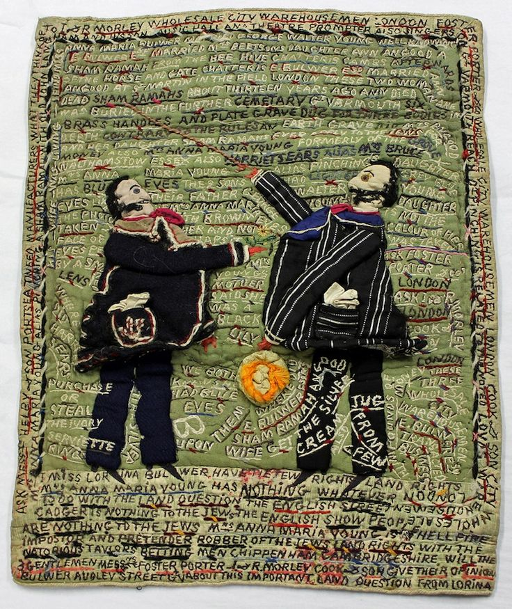 ♒ Enchanting Embroidery ♒ Textile samplers by Lorina Bulwer (born 1838), an inmate of the lunatic ward of the Great Yarmouth Workhouse