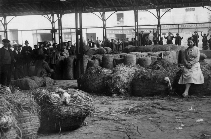 Madrid's former Mercado de la Cebada (The Barley Market) in 1929.