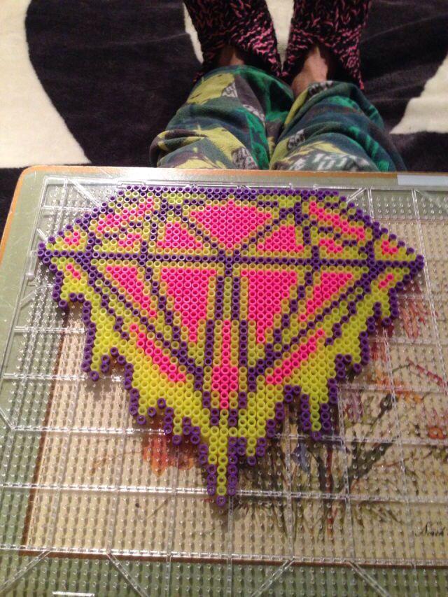 Perler bead diamond Perler beads, Beads, Perler