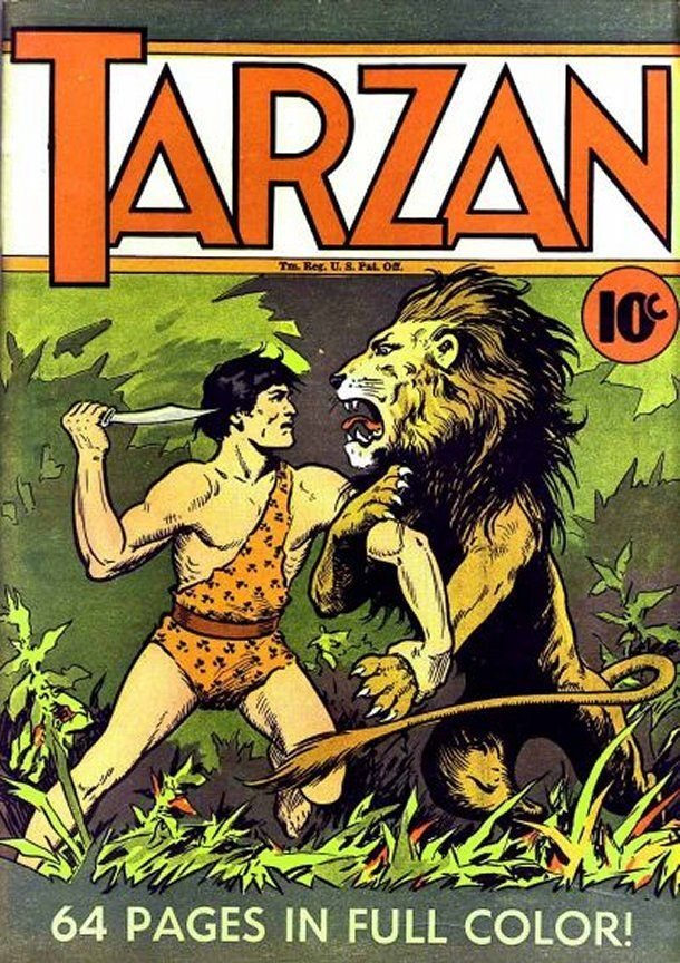 Hal Foster's cover illustration for a Tarzan book in the 1930's