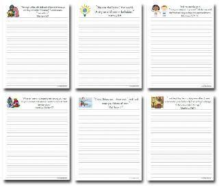 Free copywork printables for ECC memory verses & Hero Tales.