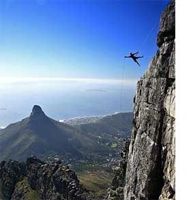 Abseiling Table Mountain, Cape Town, South Africa