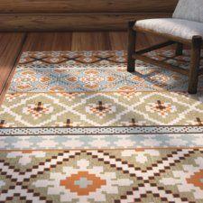 Rangely Green/Terracotta Indoor/Outdoor Area Rug