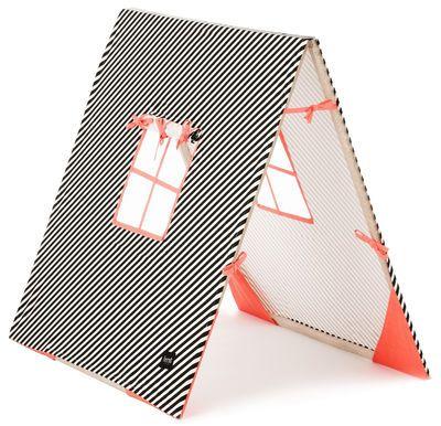 Scopri Tenda Kids -/ Per bambini, Nero, bianco, rosa fosforescente di Ferm Living, Made In Design Italia