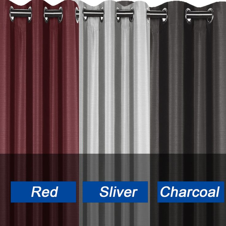 Light Filtering Three Colour Blockout Eyelet Curtain Home Bedroom Decoration | eBay