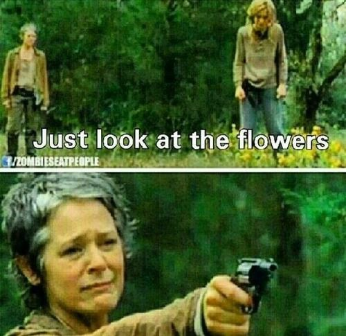 I as like, noo... no... carol is not gonna kill her.. she won't.. *le bang* WAT *SOBS* I really did not expect to sob if Lizzie or mika died but this was the saddest episode so far ),,,,,,: