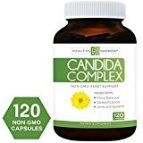 #Health Candida Cleanse (NON-GMO) 120 Capsules: Double the Competition  Powerful Yeast Infection Treatment with Caprylic Acid Oregano Oil & Probiotics to Clear Candida while Preventing Reoccurrence