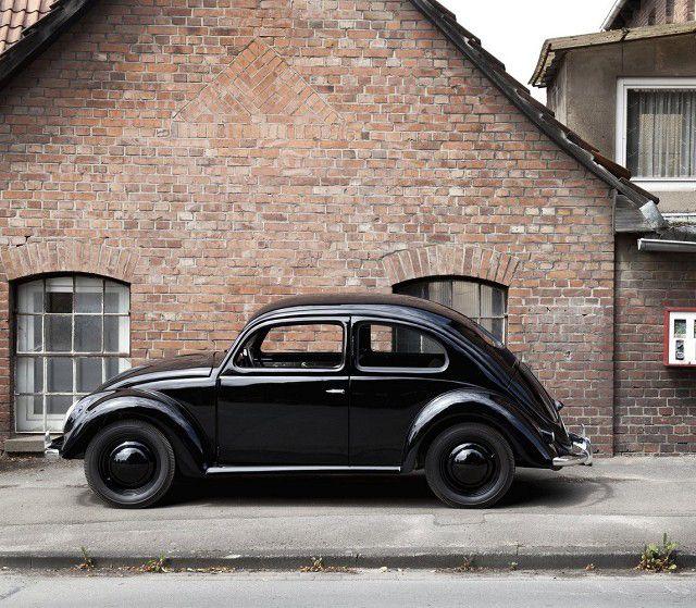 Early all black VW Beetle - Käfer