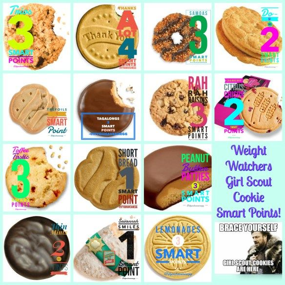 It's Girl Scout Cookie Time…are you ready? Print, share and enjoy my Weight Watchers Smart Points List for Girl Scout Cookies! If You Have An Egg #weightwatchers #smartpoints #girlscoutcookies
