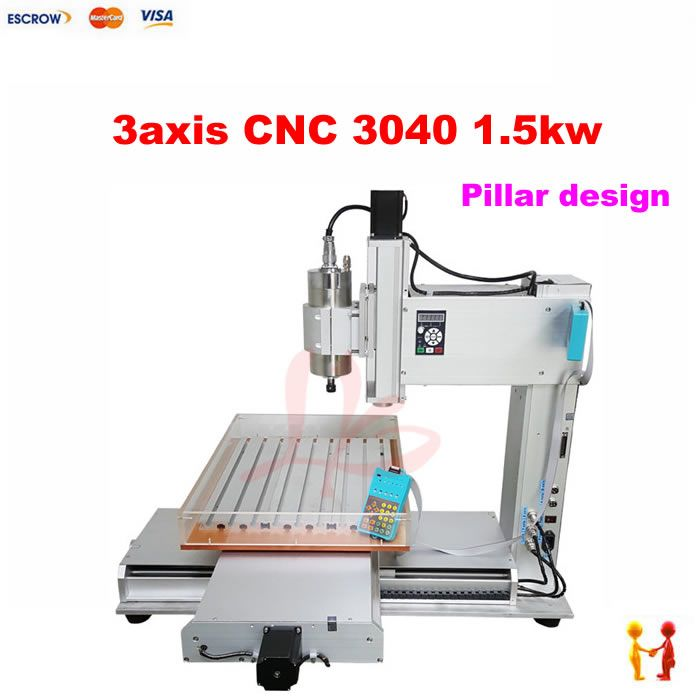 New 1500W Three-axis 3 Axis 3040 cnc router with Water Tank cnc engraver / cnc engraving machine / cnc milling machine
