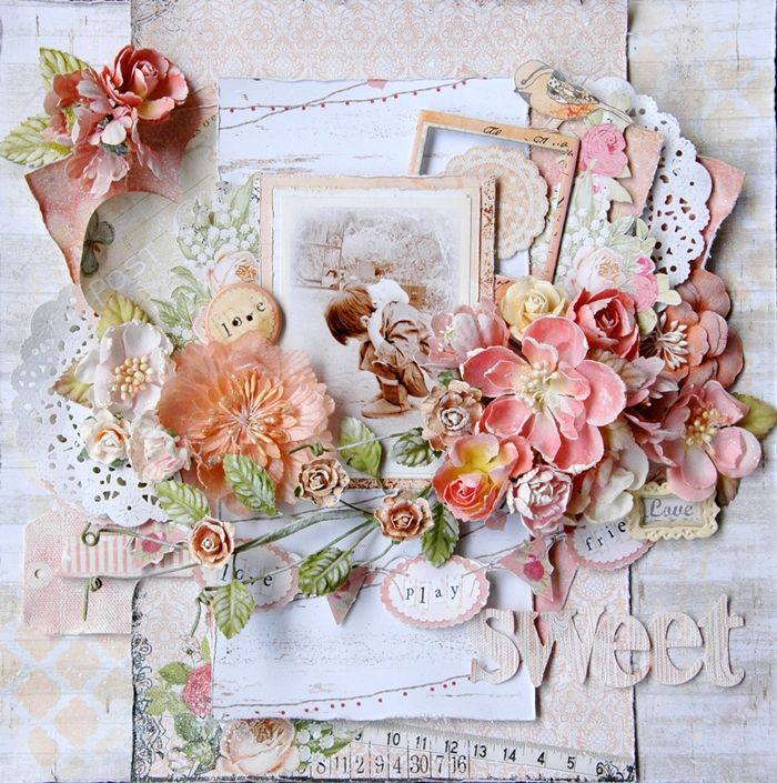 135 best Shabby Chic Scrapbooking Layouts images on ...