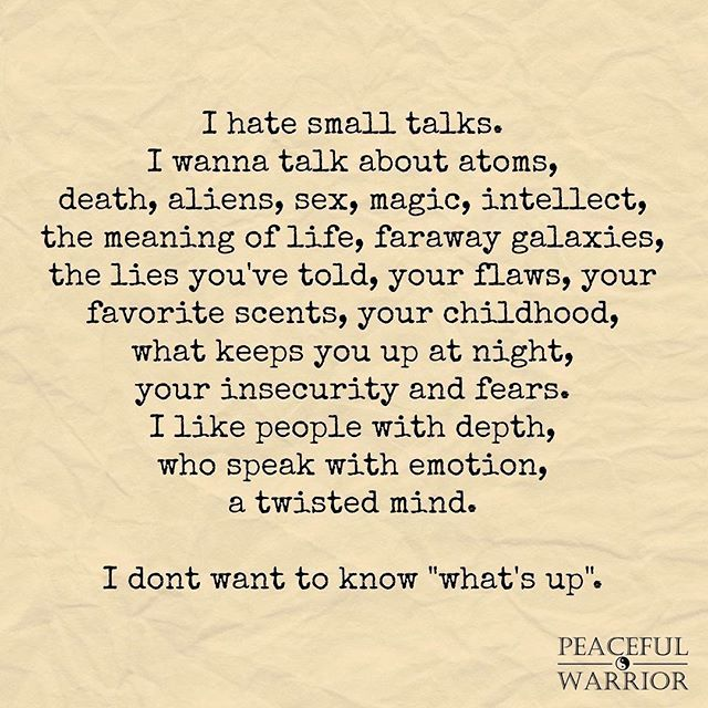 Indeed. And there's one person I want these conversations with above anyone else. Can you guess who that is? - P