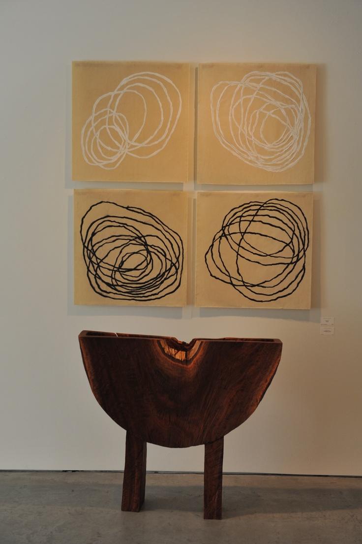 MIchelle Stuhl Encaustics, Howard Werner Eucalyptus Vessel: Werner Eucalyptus, Decor, Art Spaces, Encaustic Wax, Colors Circles, Circles Dots, Art Installations, Tropical Style Work, Stuhl Encaustic